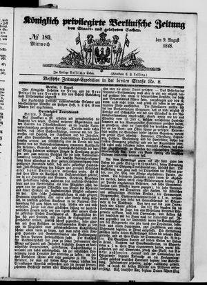 Königlich privilegirte Berlinische Zeitung von Staats- und gelehrten Sachen vom 09.08.1848