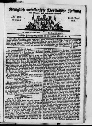 Königlich privilegirte Berlinische Zeitung von Staats- und gelehrten Sachen vom 16.08.1848