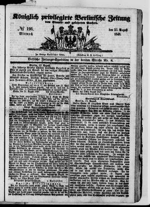 Königlich privilegirte Berlinische Zeitung von Staats- und gelehrten Sachen vom 23.08.1848