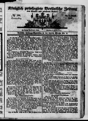 Königlich privilegirte Berlinische Zeitung von Staats- und gelehrten Sachen vom 24.08.1848