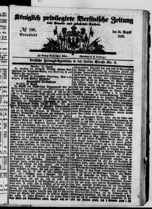 Königlich privilegirte Berlinische Zeitung von Staats- und gelehrten Sachen vom 26.08.1848
