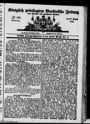 Königlich privilegirte Berlinische Zeitung von Staats- und gelehrten Sachen vom 27.08.1848