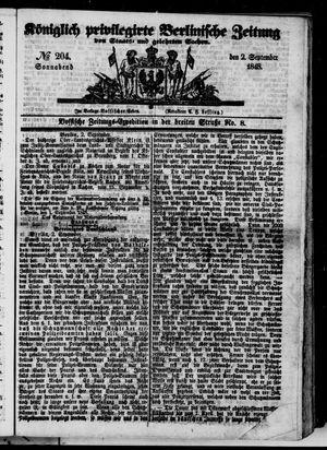 Königlich privilegirte Berlinische Zeitung von Staats- und gelehrten Sachen on Sep 2, 1848