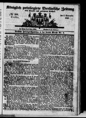 Königlich privilegirte Berlinische Zeitung von Staats- und gelehrten Sachen vom 05.09.1848
