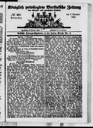 Königlich privilegirte Berlinische Zeitung von Staats- und gelehrten Sachen vom 02.11.1848
