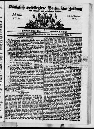 Königlich privilegirte Berlinische Zeitung von Staats- und gelehrten Sachen vom 03.11.1848