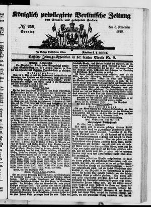 Königlich privilegirte Berlinische Zeitung von Staats- und gelehrten Sachen vom 05.11.1848
