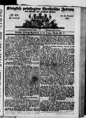 Königlich privilegirte Berlinische Zeitung von Staats- und gelehrten Sachen on Nov 25, 1848