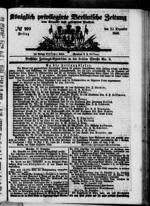 Königlich privilegirte Berlinische Zeitung von Staats- und gelehrten Sachen vom 22.12.1848