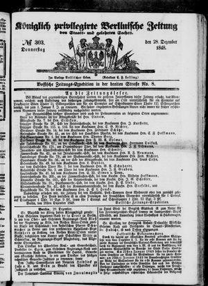 Königlich privilegirte Berlinische Zeitung von Staats- und gelehrten Sachen on Dec 28, 1848