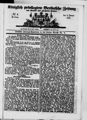 Königlich privilegirte Berlinische Zeitung von Staats- und gelehrten Sachen vom 05.01.1849