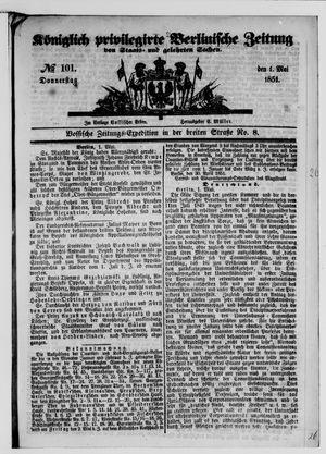 Königlich privilegirte Berlinische Zeitung von Staats- und gelehrten Sachen vom 01.05.1851