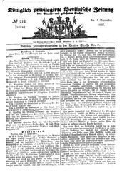 Königlich privilegirte Berlinische Zeitung von Staats- und gelehrten Sachen