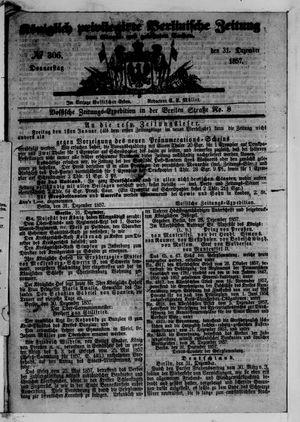Königlich privilegirte Berlinische Zeitung von Staats- und gelehrten Sachen vom 31.12.1857