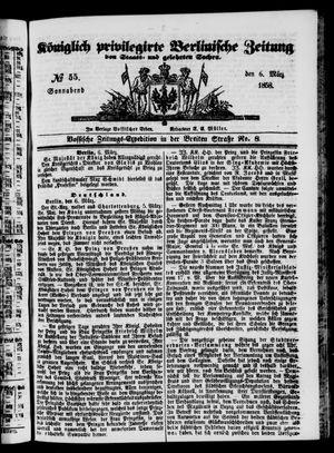Königlich privilegirte Berlinische Zeitung von Staats- und gelehrten Sachen vom 06.03.1858
