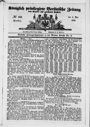 Königlich privilegirte Berlinische Zeitung von Staats- und gelehrten Sachen vom 04.05.1858