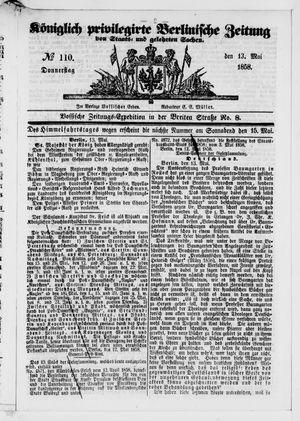 Königlich privilegirte Berlinische Zeitung von Staats- und gelehrten Sachen vom 13.05.1858