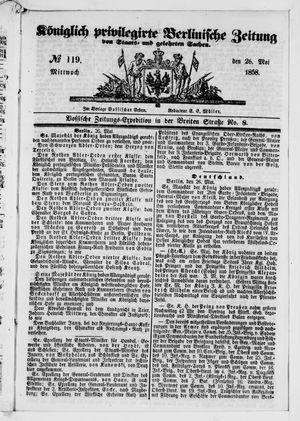 Königlich privilegirte Berlinische Zeitung von Staats- und gelehrten Sachen vom 26.05.1858