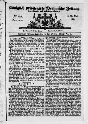 Königlich privilegirte Berlinische Zeitung von Staats- und gelehrten Sachen vom 29.05.1858