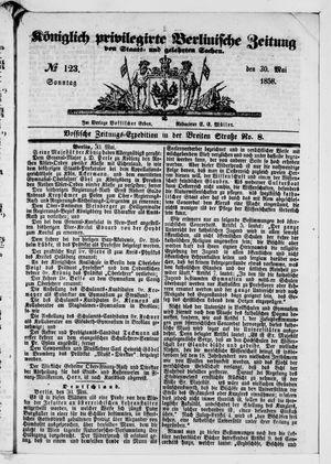Königlich privilegirte Berlinische Zeitung von Staats- und gelehrten Sachen vom 30.05.1858