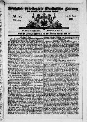Königlich privilegirte Berlinische Zeitung von Staats- und gelehrten Sachen vom 08.06.1858