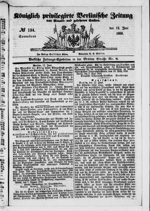 Königlich privilegirte Berlinische Zeitung von Staats- und gelehrten Sachen vom 12.06.1858