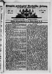 Königlich privilegirte Berlinische Zeitung von Staats- und gelehrten Sachen (23.06.1858)