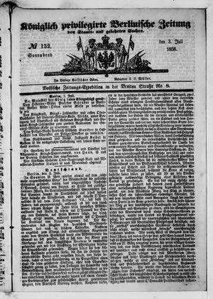 Königlich privilegirte Berlinische Zeitung von Staats- und gelehrten Sachen vom 03.07.1858