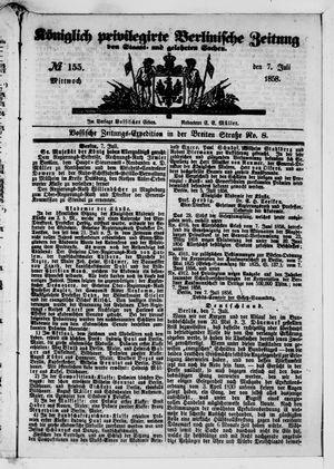 Königlich privilegirte Berlinische Zeitung von Staats- und gelehrten Sachen vom 07.07.1858