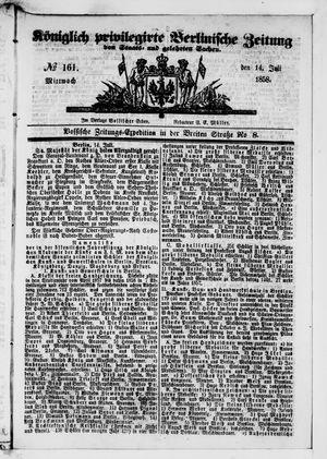 Königlich privilegirte Berlinische Zeitung von Staats- und gelehrten Sachen vom 14.07.1858