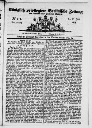 Königlich privilegirte Berlinische Zeitung von Staats- und gelehrten Sachen vom 29.07.1858