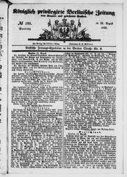 Königlich privilegirte Berlinische Zeitung von Staats- und gelehrten Sachen (22.08.1858)