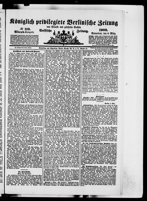 Königlich privilegirte Berlinische Zeitung von Staats- und gelehrten Sachen vom 06.03.1909
