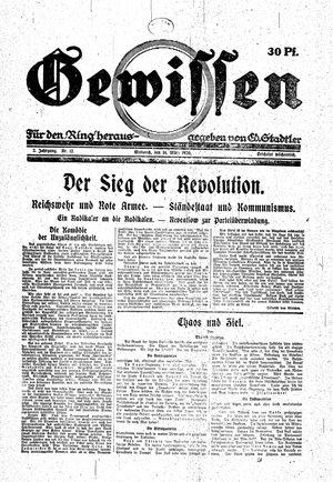 Gewissen vom 31.03.1920