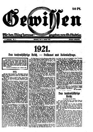 Gewissen vom 05.01.1921
