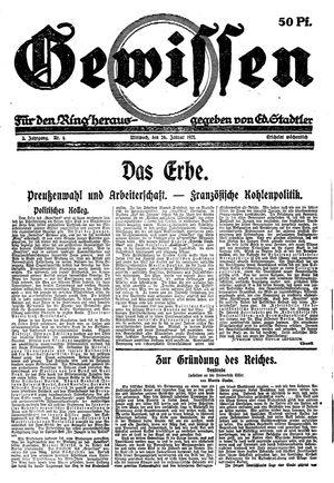 Gewissen vom 26.01.1921