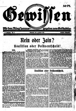 Gewissen vom 09.02.1921
