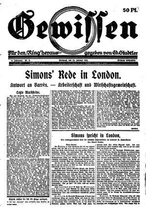 Gewissen vom 23.02.1921