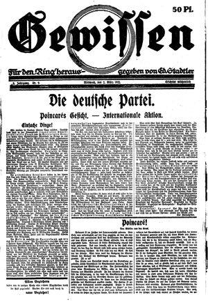Gewissen vom 02.03.1921