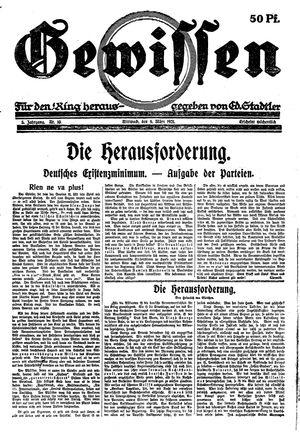 Gewissen vom 08.03.1921