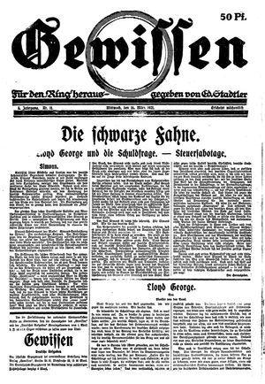 Gewissen vom 16.03.1921