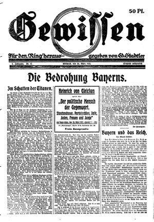 Gewissen vom 23.03.1921