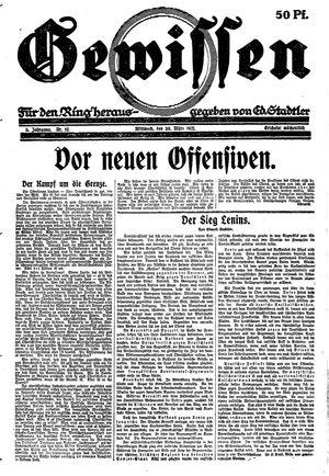 Gewissen vom 30.03.1921