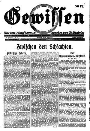 Gewissen vom 06.04.1921