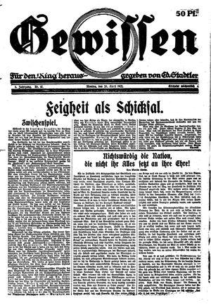 Gewissen vom 25.04.1921