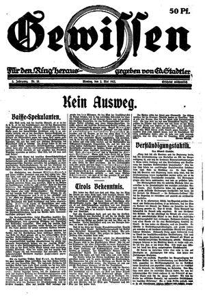 Gewissen vom 02.05.1921
