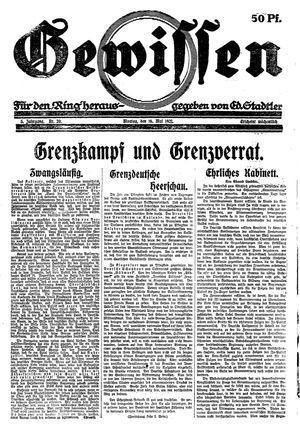 Gewissen vom 16.05.1921