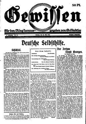 Gewissen vom 23.05.1921