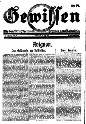 Gewissen vom 13.06.1921