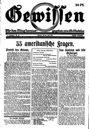 Gewissen vom 20.06.1921